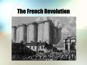 The French Revolution - Jenks Public Schools