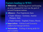 Factors leading to WWI