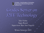 Grades Server on J2EE Technology