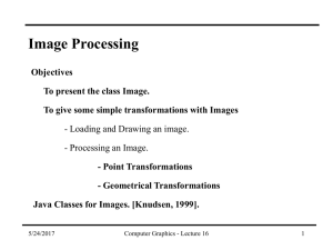 Class Structure – Image Processing Class