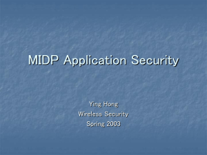 MIDP Application Security