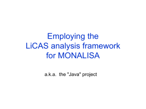 Employing the LiCAS analysis framework for MONALISA