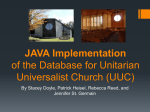 JAVA Implementation of the Database for Unitarian