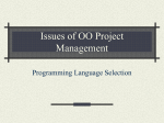Issues of OO Project Management