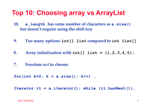 apworkshoparrays