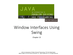 Window Interfaces Using Swing