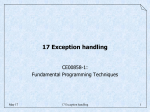 17 Exception handling