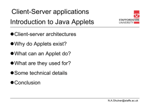 Applets in Java