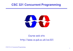 What is a Concurrent Program?