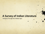 India Literature Survey - Hinsdale South High School