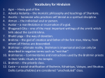 Vocabulary for Hinduism - Trinity Evangelical Free Church