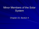 23 4 Minor Members of the Solar System