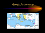 Greek Astronomy - Physics & Astronomy