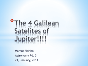 The 4 Galilean Satelites of Jupiter!!!!
