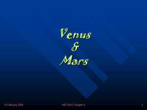 Venus and Mars - Wayne State University