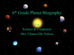 6th Grade Planet Biography