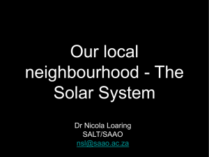 Our local neighbourhood – The Solar System (PPT file, 6.12 MB)