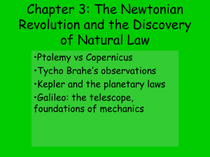 The Newtonian Revolution: The discovery of natural law