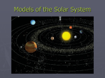 Models of the Solar System - Middle School Science & Algebra I