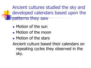 Early Observers (The Beginnings of Astronomy)