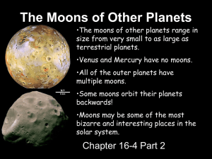 The Moons of Other Planets