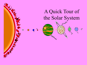 A Quick Tour of the Solar System