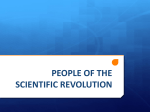 PEOPLE OF THE SCIENTIFIC REVOLUTION AND ENLIGHTENMENT
