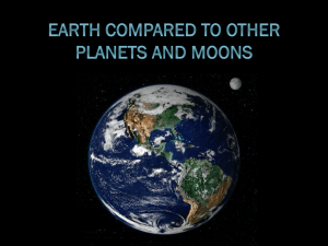 Earth Compared to Other Planets and Moons