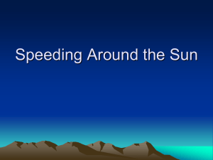 Speeding Around the Sun