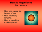 Mars is Magnificent - Parkwaysolarsystem