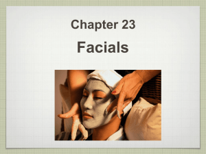 Ch#23 Facials Power Point Notes Outline