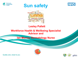 Sun Safety Session Slideshow