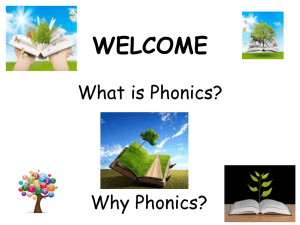 WELCOME What is Phonics? - Hungerford Primary School