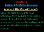 Chapter: 1 Section: 2 Exploring Language