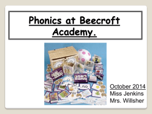 EYFS Phonics parent workshop October 2014