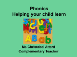 phonics new - Our Happy School