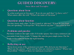 GUIDED DISCOVERY: Some ideas and Examples