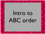 ABC-order-lesson - Dearborn High School