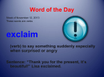 Counselor`s Word of the Week
