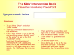 The Kids` Invention Book Interactive Vocabulary Link PPT