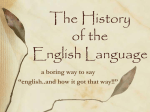 The History of the English Language