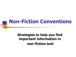 Non-Fiction Conventions