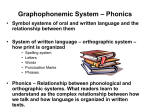 Graphophonemic System – Phonics