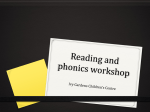 Reading and phonics workshop Foundation Stage for website