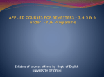 APPLIED COURSES FOR SEMESTER – 3,4,5 & 6