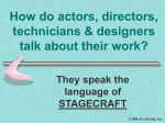How do actors talk about their work?