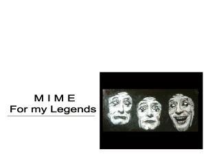 brief history of mime