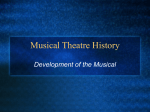 Musical Theatre History