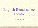 English Renaissance Theatre