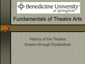 Fundamentals of Theatre Arts - EnglishLiteratureII-Hood